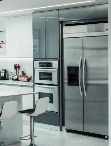 Hidden hinge on refrigerator - kitchen
