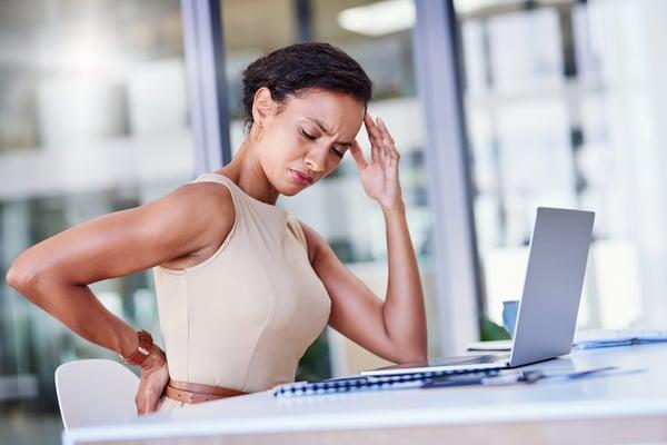 home office ergonomics checklist - good posture